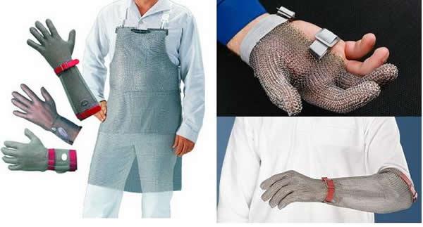 Кольчуга и перчатки для работы с рыбой